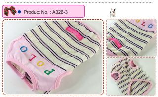 Dog Cat Clothes Shirts Embroidery Stripe Tops A326
