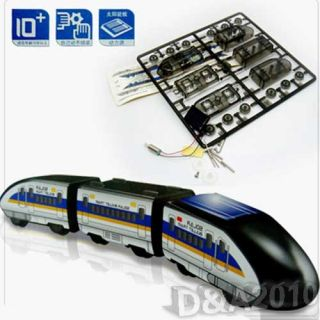 Solar Power Green Energy DIY Bullet Train Subway Educational Toy for Kids