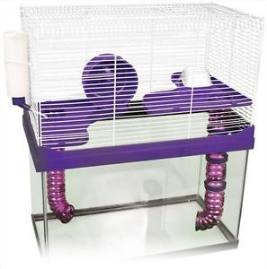 ★3 Level High Rise Cage Accs★ for Your 10 Gallon Tank Hamsters Mice Gerbil