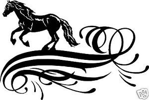 Horse Friesian Equestrian Trailer Truck Sign Decal 24""