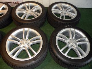 "19"" Factory Tesla Model s Wheels Michelin Tires 2013 Silver 20 21"