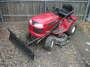 "Craftsman DLT 3000 42"" Lawn Tractor Riding Mower 42"" Snow Plow Blade 17 H P Twin"