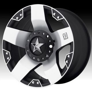 20 inch XD Rockstar XD775 Black Machined Wheels Rims 8x6 5 RAM 3500 Hummer H2