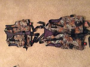 Two Camouflage Tree Stand Hunting Harnesses by Big Game Treestands