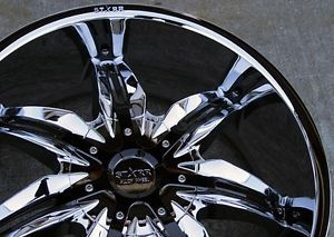 "22"" Wheels Rims and Tire Package S777 Chrome Black 5x115 ET35 cts DTS Edge More"