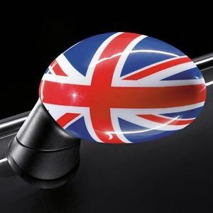 Mini Cooper Coupe Roadster Mirror Caps Union Jack British Flag New