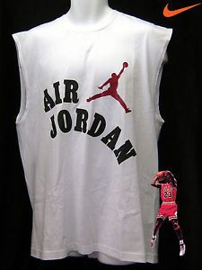 Nike Air Jordan Basketball Shirt Cotton White Large