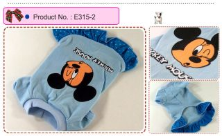 Dog Cat Clothes Dresses Mickey Printing Skirts E315
