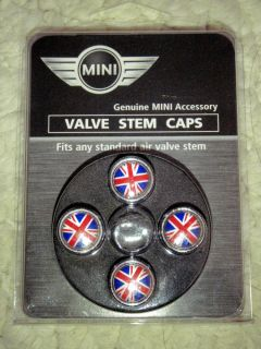 Genuine Mini Cooper Union Jack Valve Stem Caps 36110154895 Jaguar Land Rover MG