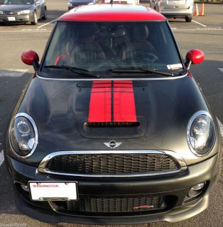 Mini Cooper Countryman Coupe Strobe Gradinet Hood Decals Stripes Stripe Graphics