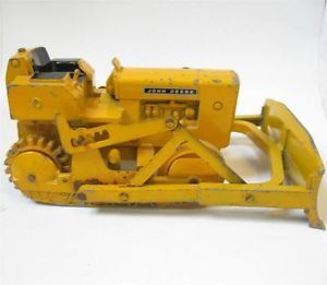 Vtg John Deere Crawler Diecast Metal Model Ertl Dozer Toy 1 16 Parts Tractor