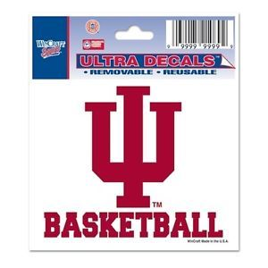 Indiana Hoosiers Basketball Small 3x4 Color Ultra Decal Auto Car Window