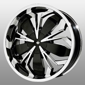 18 inch Black Ice Black Widow Chrome Wheels Rims 4x100 Horizon G3 G5 ion ion 2