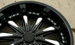 Cabo 170 22 x 8 5 Black Rims Wheels Dodge Avenger 95 00 5H 34