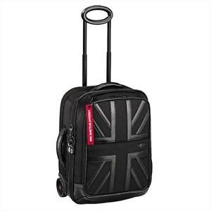 Mini Cooper Black Jack Cabin Trolley Luggage Bag with Handle Wheels New