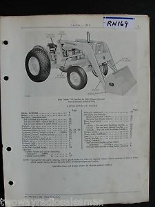 John Deere 710 Loader Parts Manual PC700 Original for 1010 Tractor