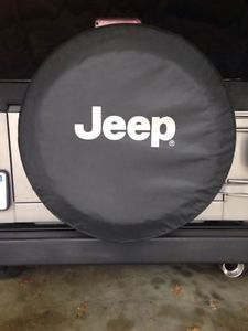 Jeep Wrangler Mopar Factory Spare Tire Cover Black