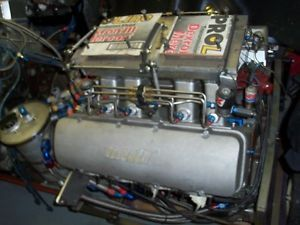 632 CU in BB Chevy Drag Race Motor Complete Engine Jesel Bill Miller MSD