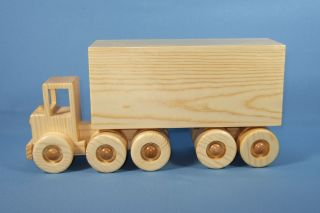 "Handcrafted Wooden Toy ""Tractor Trailer"""