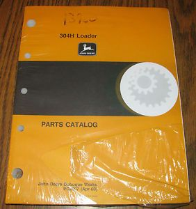 John Deere 304H Loader Parts Catalog Manual Book JD PC2807 New