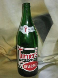 Vintage Turner's Beverages Bottle Cleveland Ohio