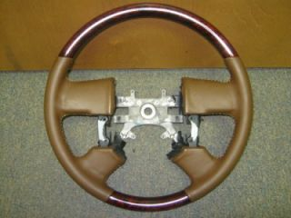 New 04 08 Ford F 150 King Ranch Truck Brown Leather Wood Steering Wheel