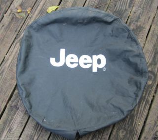 "Jeep Factory Canvas Spare Tire Cover 15"" Cherokee Liberty YJ XJ Wrangler"