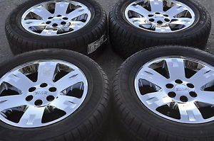 "20"" GMC Sierra Yukon 1500 Truck Chrome Wheels Rims Tires Factory Wheels"