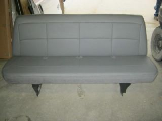 97 07 Ford Econoline Van 4th or 5th Row 4 Passenger Gray Vinyl Bench Seat