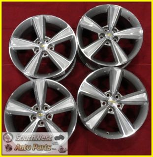"2011 11 Chevy Cruze 17"" Machined Silver 5 Spoke Wheels Used Factory Set 5515"