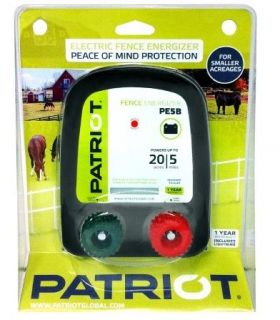 Patriot PE5B Battery Powered Electric Fence Charger Energizer 5 Miles 20 Acres