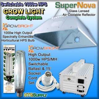 1000 Watt HPS Grow Light Supernova Hood Reflector 1000W