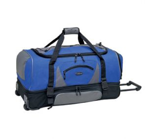 "Travelers Club 30"" 2 SECTION DROP BOTTOM ROLLING DUFFEL , Navy"