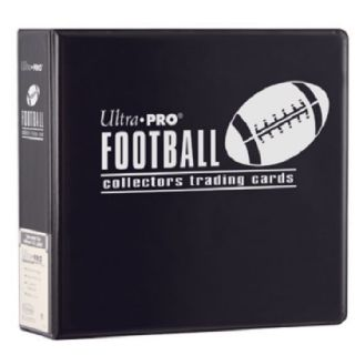 "Ultra Pro 3"" Football Trading Card Collector's Album Black Collection Binder"