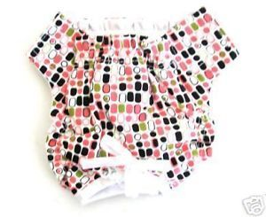 Dog Clothes Pink Print Panties Pet Diaper Incontinence House Training