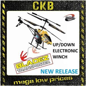Bladez Transporter Winch Remote Radio Control Helicopter Mini Gyro Indoor Toy RC