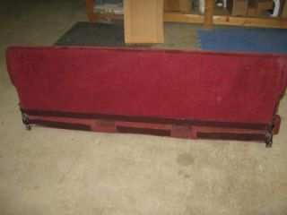 88 93 Chevy Silverado GMC Sierra CK Red Burgundy Cloth Extended Cab Rear Seat
