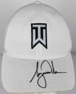 Tiger Woods Authentic Signed White Nike Tiger Woods Golf Hat JSA X99486