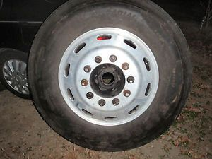 Alcoa 24 5 Big Rig Semi Truck Alum Wheel with Firestone FS590 Tire Read