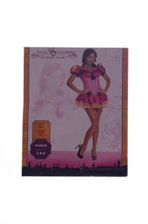 Womens Sexy Storybook Princess Halloween Costume Dress Pink Faiytale SM 4 6 New