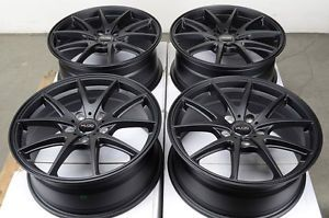 17 5x114 3 Matte Black Rims Altima Vibe Mazda 3 6 626 929 mazdaspeed Juke Wheels