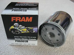 Fram PH6065B Motorcycle Chrome Oil Filter for Harley Twin Cam Engines New
