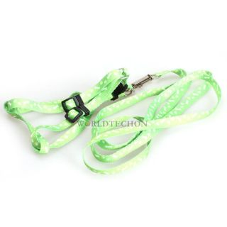 Brand New Nylon Small Pet Cat Doggie Puppy Lovely Design Leashes Lead Harness