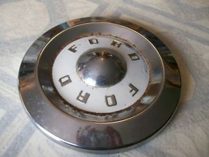 1957 59 Ford Dog Dish Hubcaps Set of Four