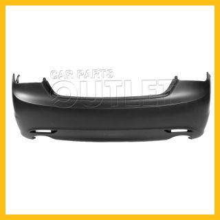 Rear Bumper Facial Cover Primered Fascia Plastic for 11 12 Hyundai Sonata Turbo