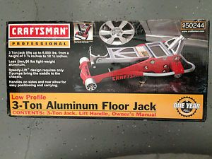 New Craftsman Low Profile 3 Ton Aluminum Floor Jack Model 50244
