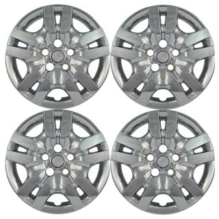 "4 PC Set 09 10 Nissan Altima 16"" Chrome Hubcaps Car Hub Caps Wheel Skin Covers"
