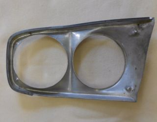 1966 Ford Fairlane Headlight Bezel Passenger Side Used