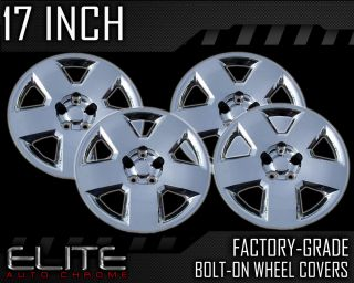 "2008 2009 Dodge Charger 17"" Chrome Bolt on Hubcaps"