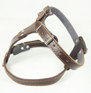 Brand New Black Brown PU Leather Dog Harness Bully Husky Pitbull Boxer Harness